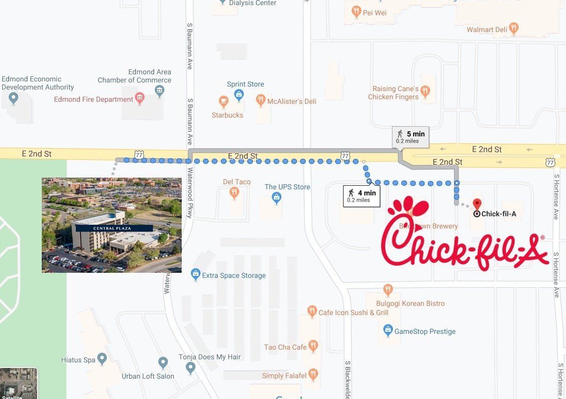 Chik-fil-a map