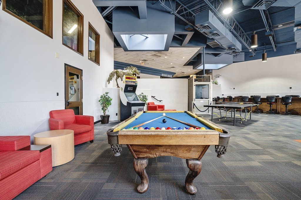 Central Plaza Student Housing Recreation area with pool table