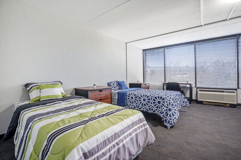 Central Plaza Student Housing shared suite with two beds