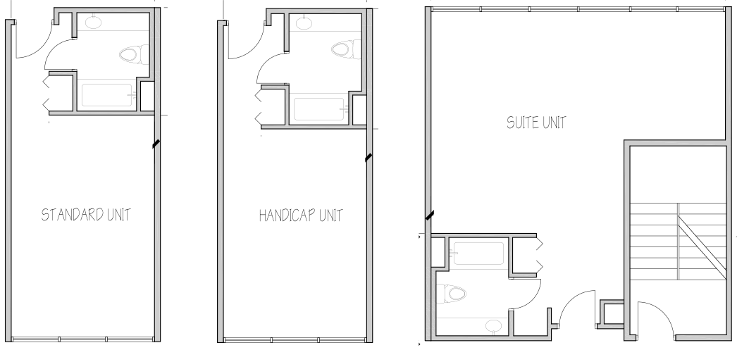 Floor Plans of common room types